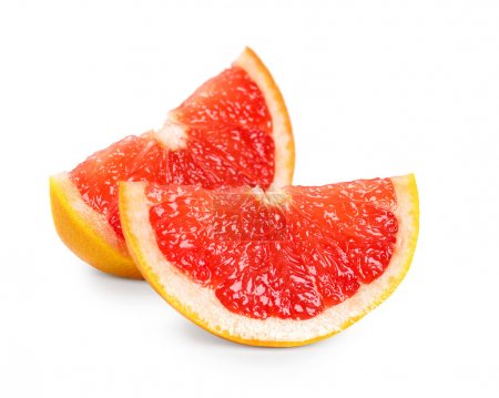 Fresh grapefruit slices