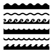 Seamless Wave Pattern Set Vector Template