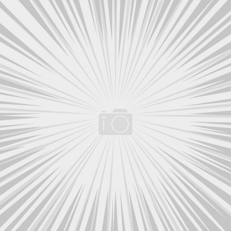 Illustration for Comics Radial Speed Lines graphic effects. Vector illustration - Royalty Free Image