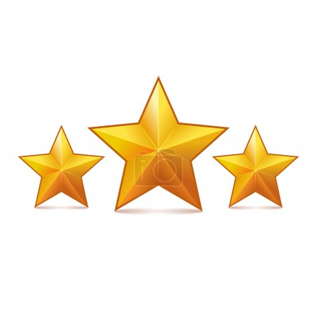 Photo for Rating Stars on White Background. Vector illustration - Royalty Free Image