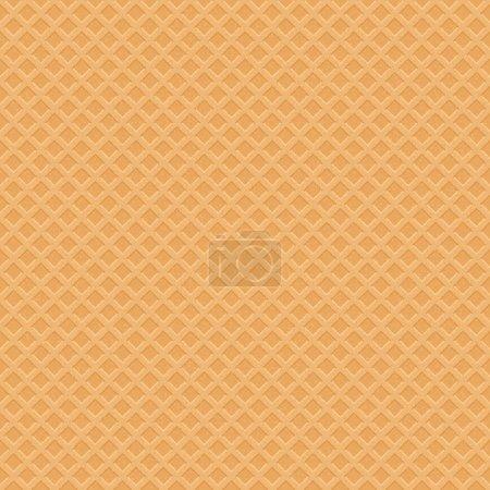Illustration pour Wafer Icecream modèle sans couture. Illustration douce vectorielle - image libre de droit