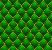 Green with Gold Quilted Leather Seamless Background Vector