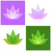 Lotus Symbol Icons Set Yoga and Spa Logo Vector
