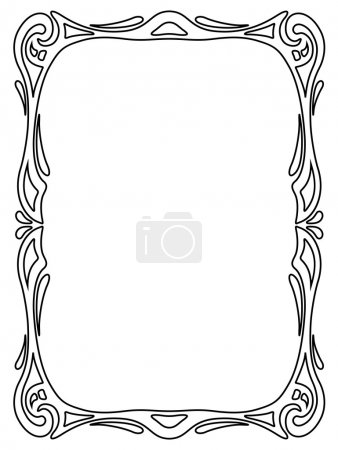 Illustration for Vector art nouveau black modern ornamental decorative frame - Royalty Free Image