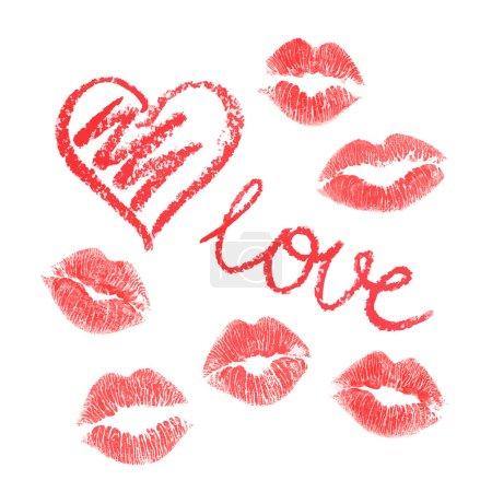 Vector lips prints