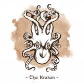 The Kraken Legendary sea monster giant octopus vector