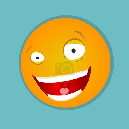 Emoticon with big smile