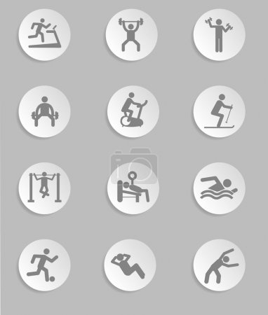 Man People Athletic Gym Gymnasium Body Building Exercise Healthy Training Fitness Workout Sign Symbol Pictogram Icon