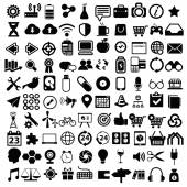 Flat icons design modern set of various financial service items web and technology development business management symbol marketing items and office equipment