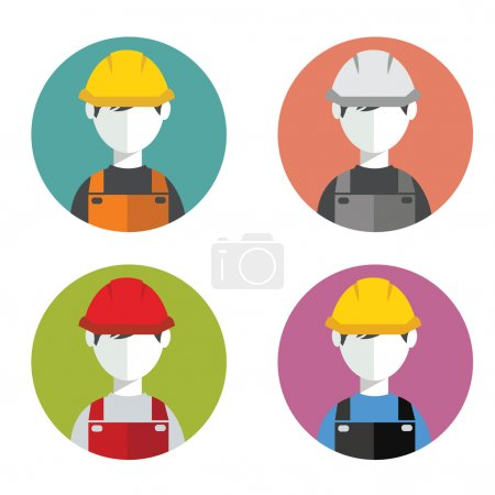 Construction workers, avatars