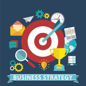 Business strategy Flat vector banner illustration