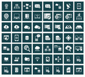 Networking storage and Communication icon setvector