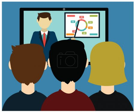 Illustration for Video conference. Business communication. - Royalty Free Image