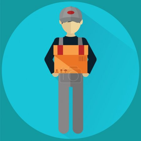 Delivery man , flat modern