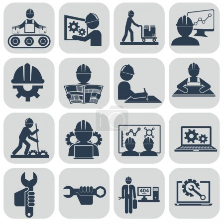 Engineering icons set