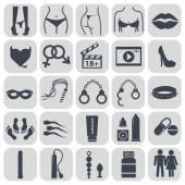 Sex icons set symbol xxx vector illustration