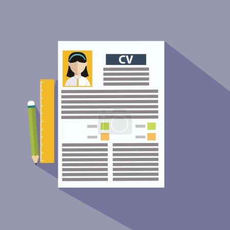 Ilustración de Presentación de la plantilla Cv. Ilustración vectorial - Imagen libre de derechos