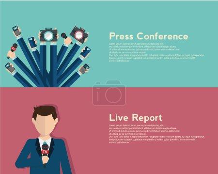 Journalism, live report concept