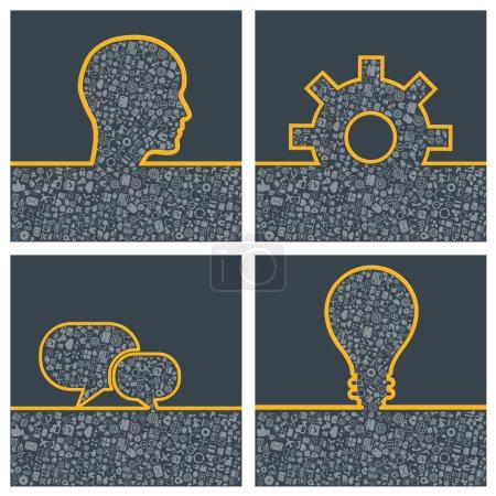 Concept of big ideas inspiration innovation