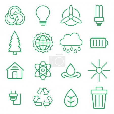 modern thin line Ecology icons