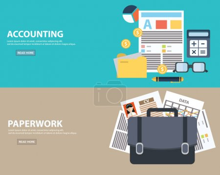 business accounting and paperwork concept