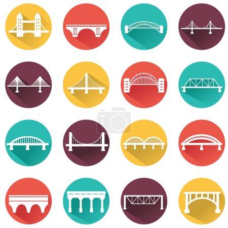 bridges icons set.
