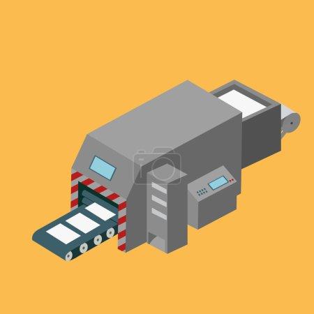 Printing machine isometric design