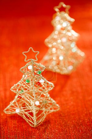 Glitter christmas tree decoration