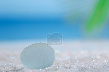 sea glass seaglass on glitter sand