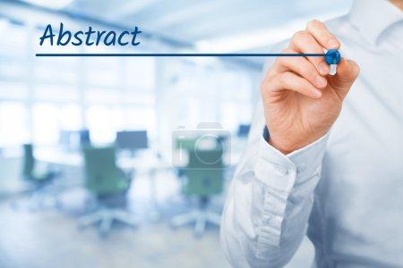 Partida abstracta para la presentación de negocios