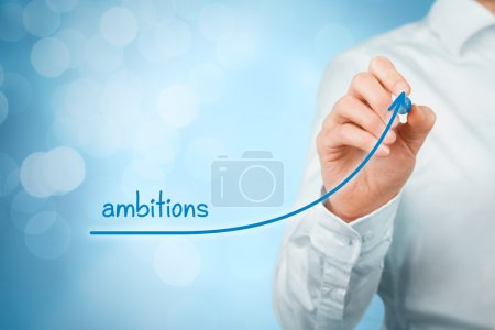 Growing ambitions concept