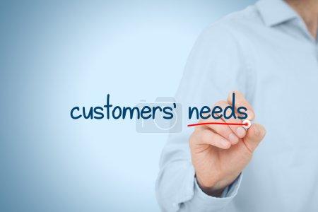 Customers needs concept.