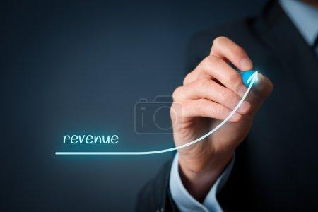 Businessman plan revenue growth