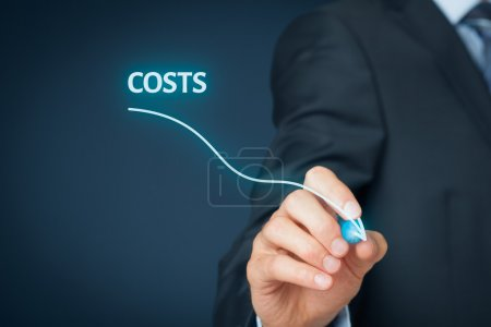 Costs reduction, costs cut, costs optimization bus...