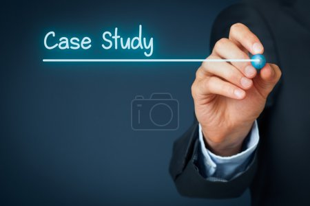 Photo for Case study heading - background template for business presentation - Royalty Free Image