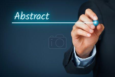Rúbrica de negocio abstracto