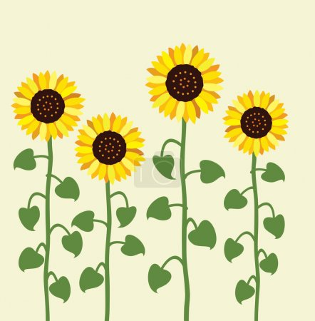Photo for Vector sunflower summer background - Royalty Free Image