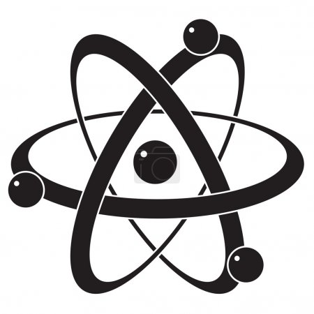 vector abstract science icon or symbol of atom