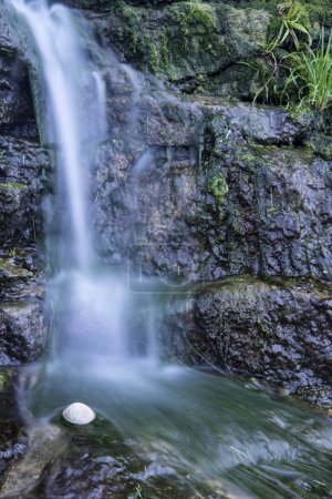 Photo for Detail of waterfall flowing onto rocks - Royalty Free Image