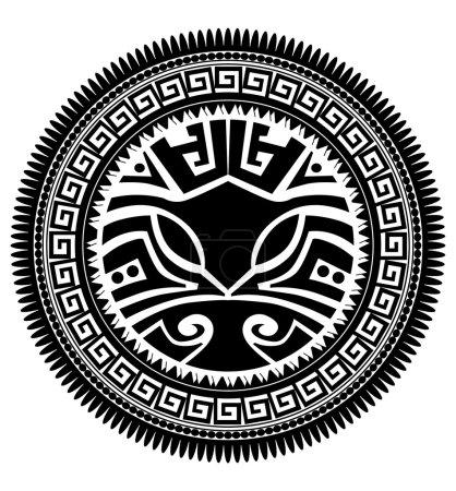 Illustration pour Tatouage polynésien - image libre de droit