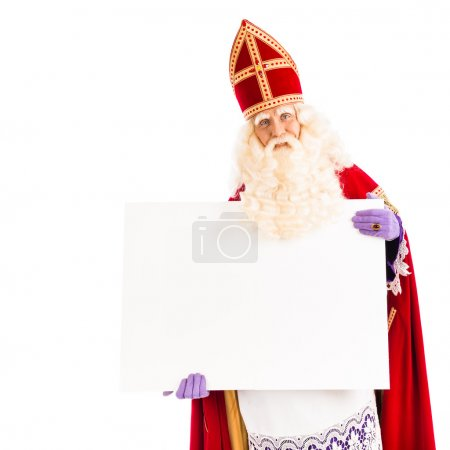 Sinterklaas with empty card