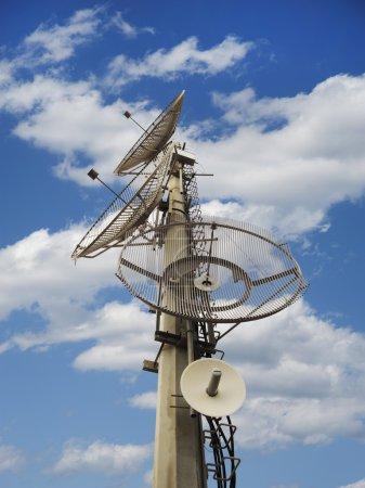 Telecommunication dishes antenna tower