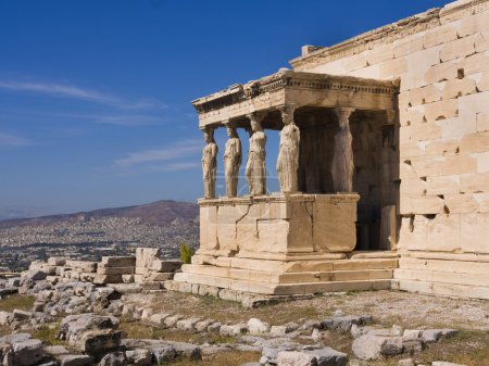 Photo for The ancient Porch of Caryatides in Acropolis, Athens, Greece - Royalty Free Image
