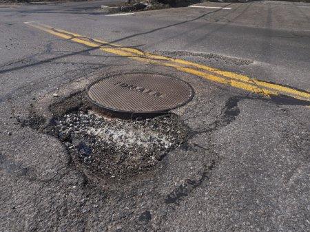 Big pothole