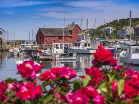 Pueblo pesquero de Rockport, MA, Nueva Inglaterra. Estados Unidos