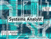 Systémový analytik označuje analyzovat, výpočetní techniky a povolání