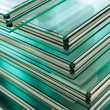 Sheets of Factory manufacturing tempered clear flo...