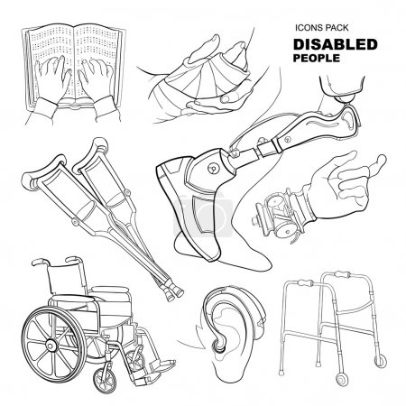 hand drawn pictures for disabled people
