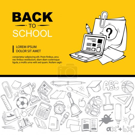 Back to School vector picture