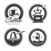 monochrome coffee elements